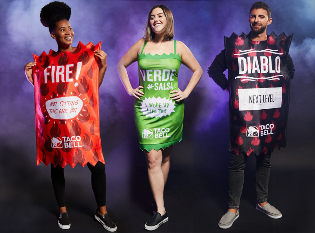 Ecomm: Halloween Taco Bell Sauce Packets Costumes