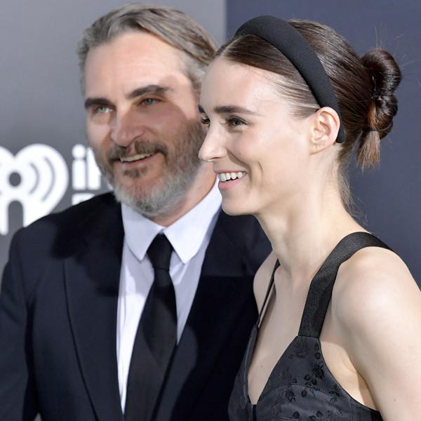 Joaquin Phoenix & Rooney Mara Look So In Love Celebrating His Oscar