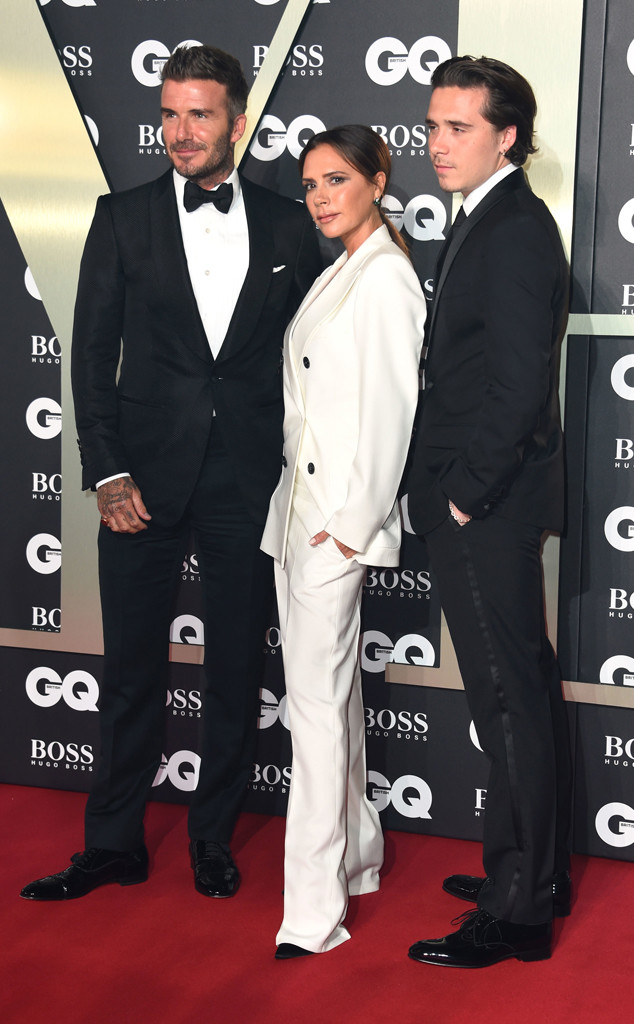 David Beckham, Victoria Beckham, Brooklyn Beckham, GQ Men of the Year Awards 2019