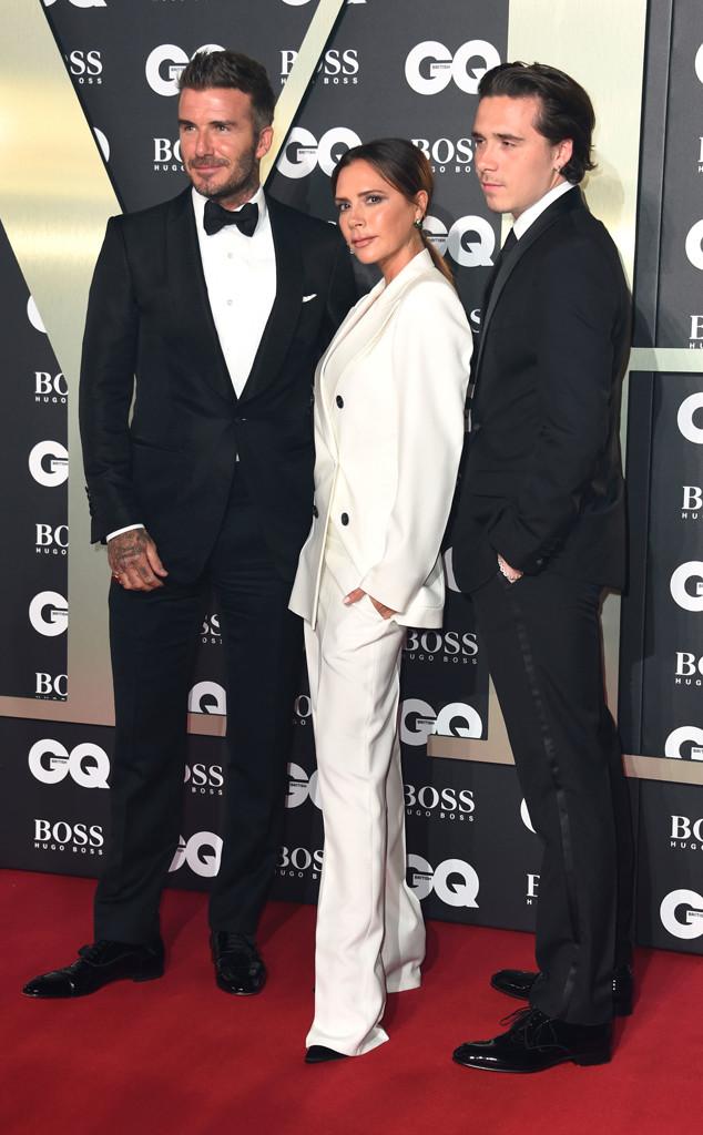 David Beckham, Victoria Beckham, Brooklyn Beckham, GQ Men of the Year Awards 2019