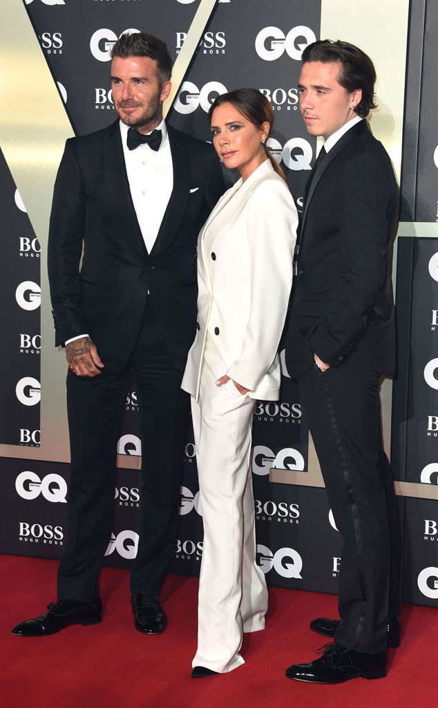 David Beckham, Victoria Beckham, Brooklyn Beckham, 2019 GQ Men of the Year Awards