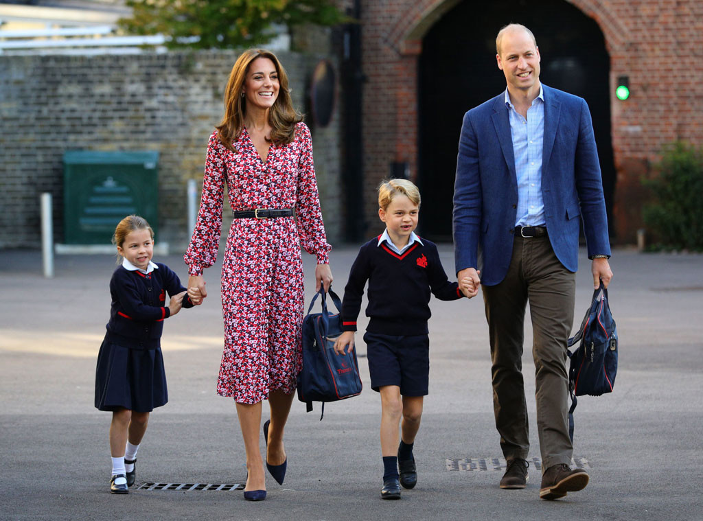 Princess Charlotte, Kate Middleton, Prince George, Prince William, School