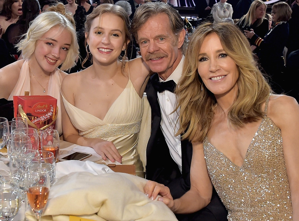 Felicity Huffman, Sofia Grace Macy, Georgia Grace Macy, William H. Macy