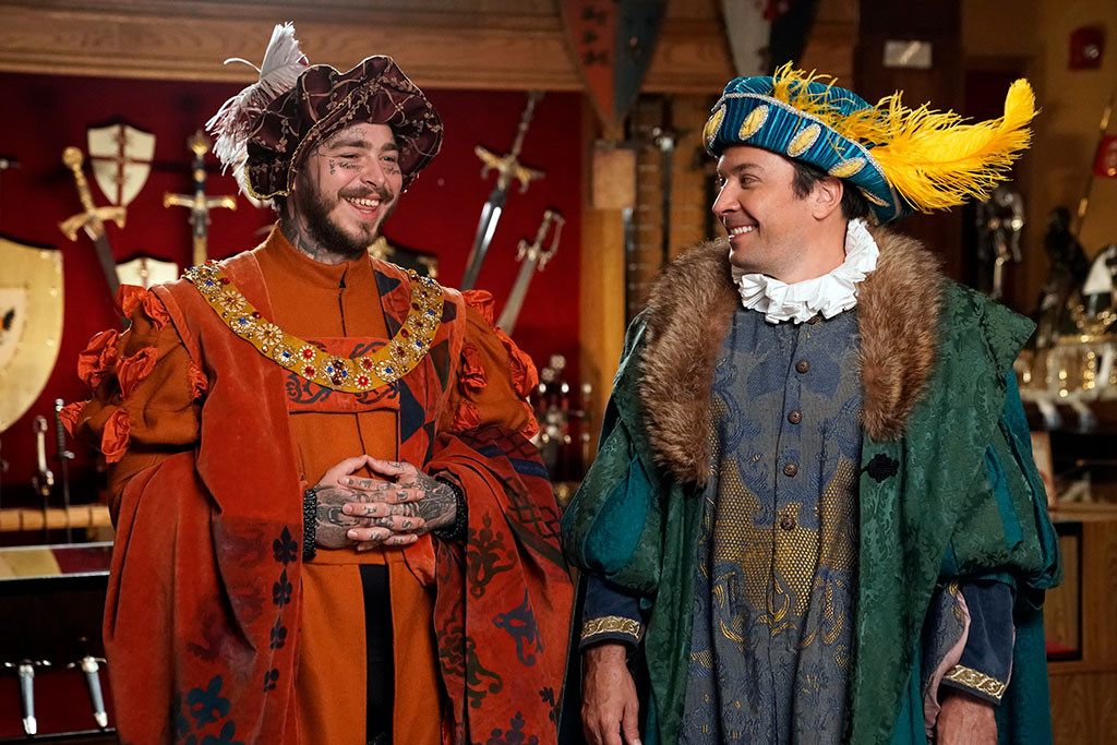 Jimmy Fallon, Post Malone, The Tonight Show, Medieval Times
