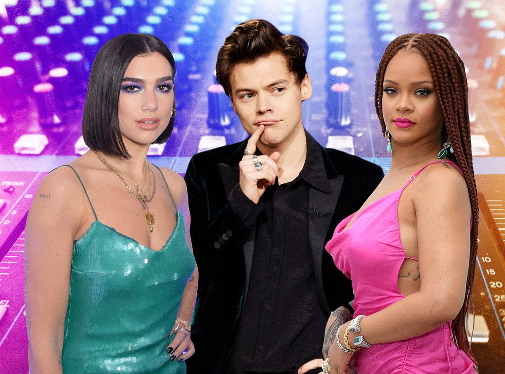 RIHANNA Rihanna, Dua Lipa, Harry Styles and More: Where's