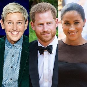 Ellen DeGeneres, Prince Harry, Meghan Markle