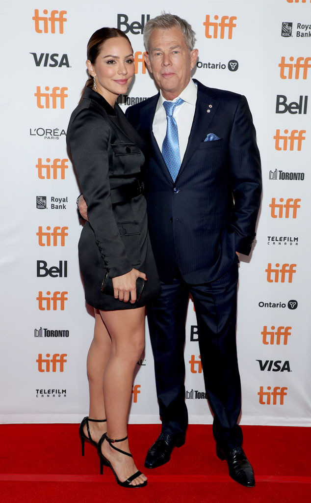 Katharine Mcphee David Foster Hit First Red Carpet As Husband Wife E Online
