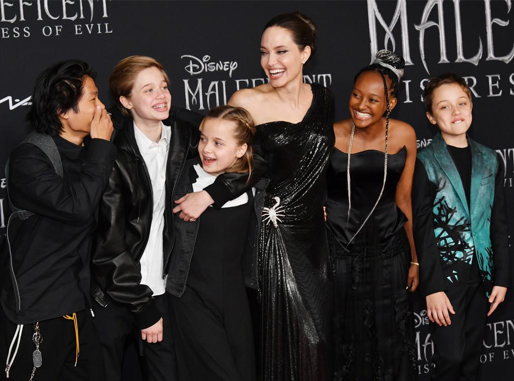 Angelina Jolie, Pax Thien Jolie-Pitt, Shiloh Nouvel Jolie-Pitt, Vivienne Marcheline Jolie-Pitt, Zahara Marley Jolie-Pit