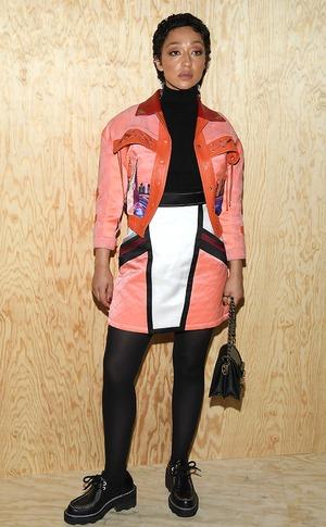 Celebrities at fashion week, Ruth Negga
