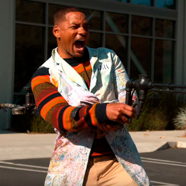 Will Smith Lives His Absolute Best Life Playing With a Flamethrower