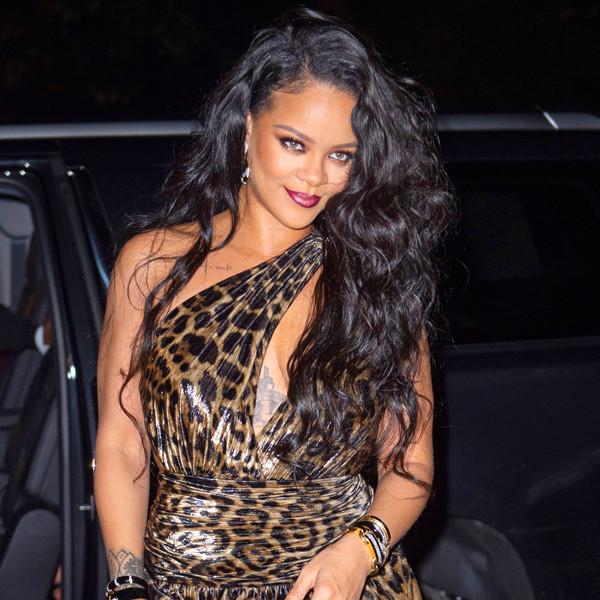 Rihanna nous met le feu avec sa robe léopard pour le lancement de son autobiographie