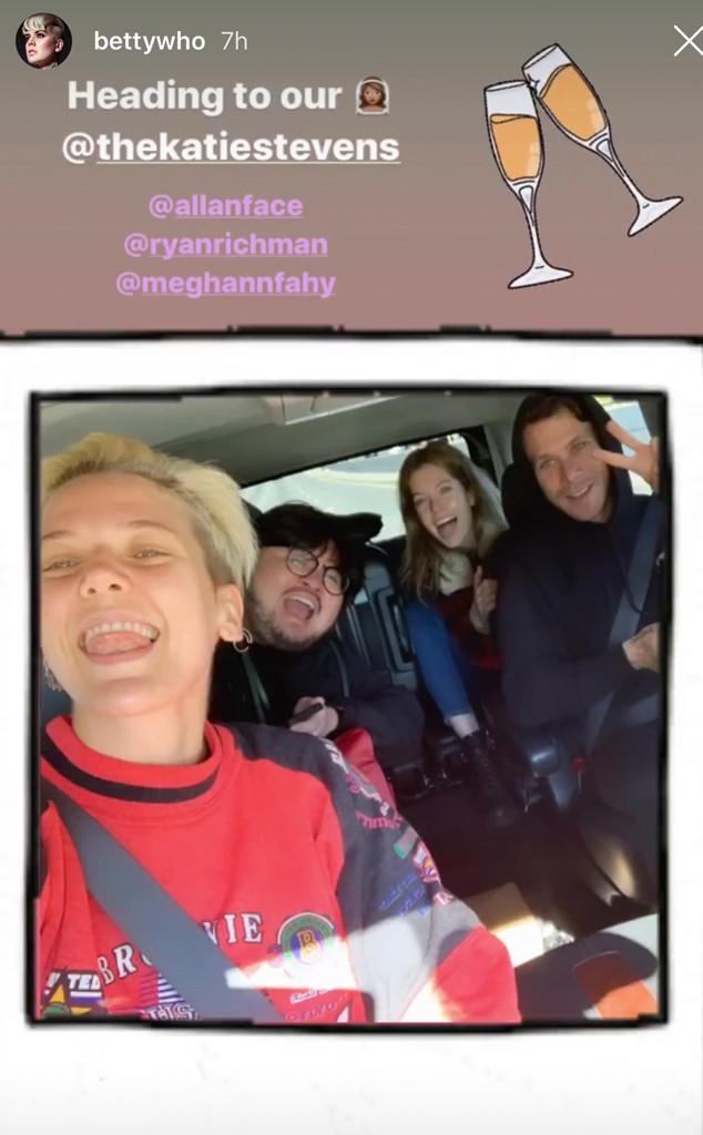 Betty Who, Katie Stevens wedding, Instagram