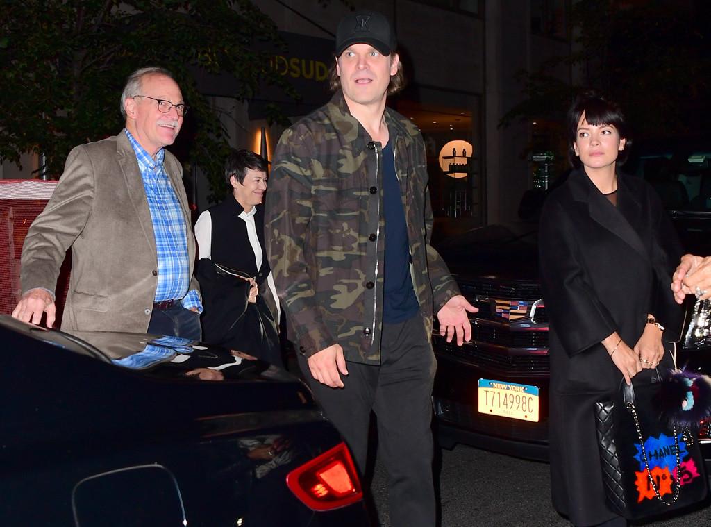 Lily Allen, David Harbour, Davids Parents