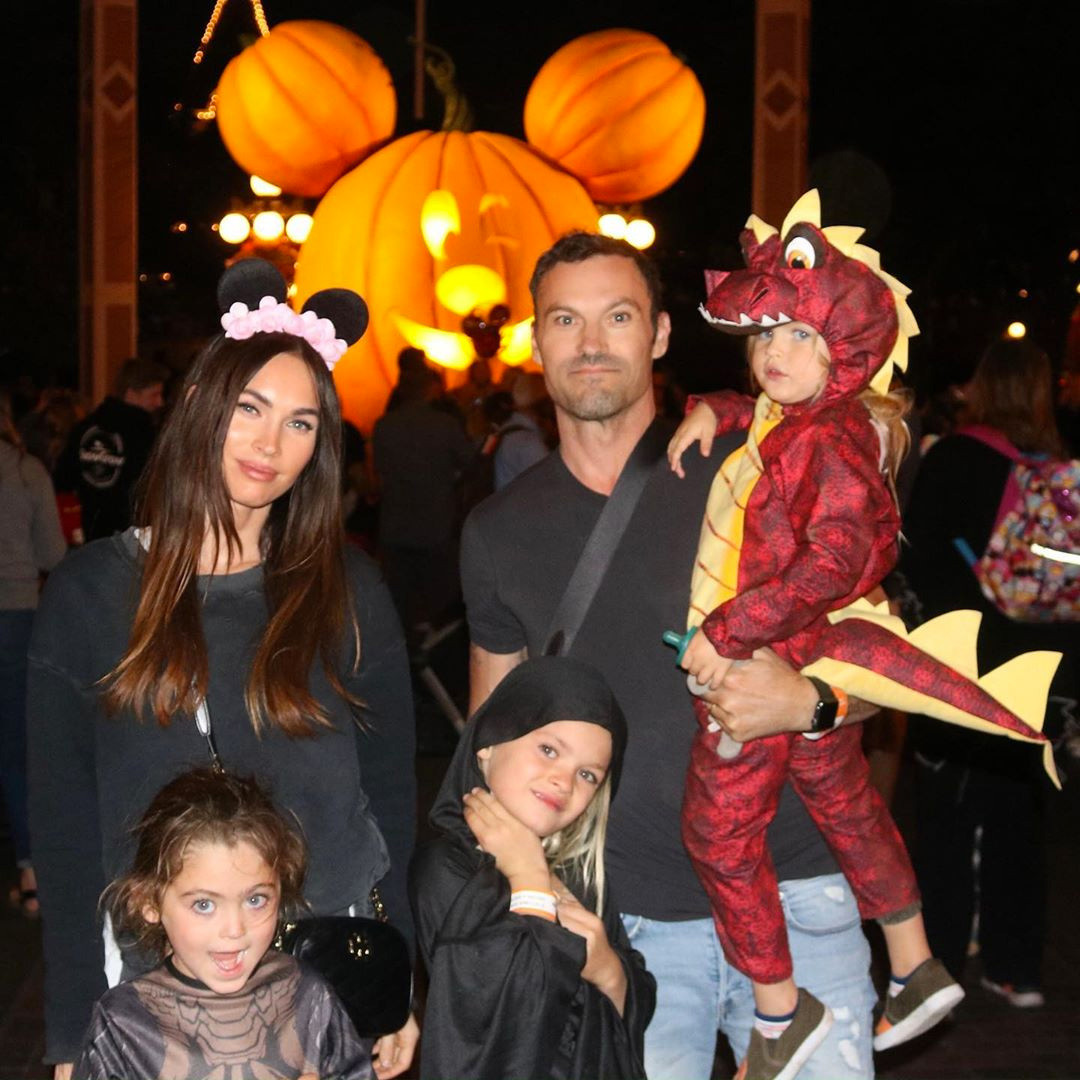 Megan Fox, Brian Austin Green, Kids, Sons, Noah, Bodhi, Journey, Disneyland