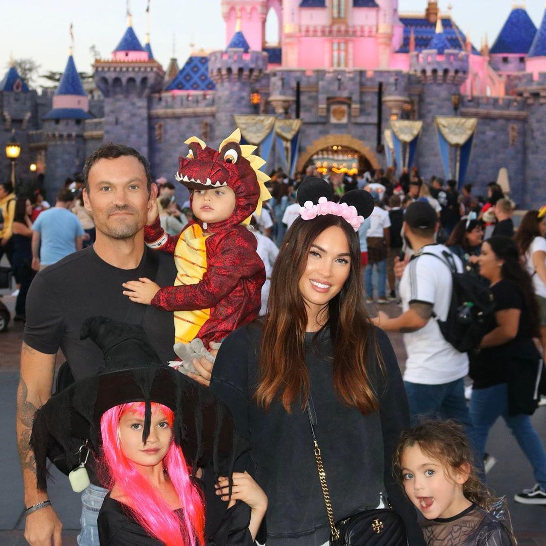 Megan Fox, Brian Austin Green, Kids, Sons, Noah, Bodhi, Journey, Disneyland