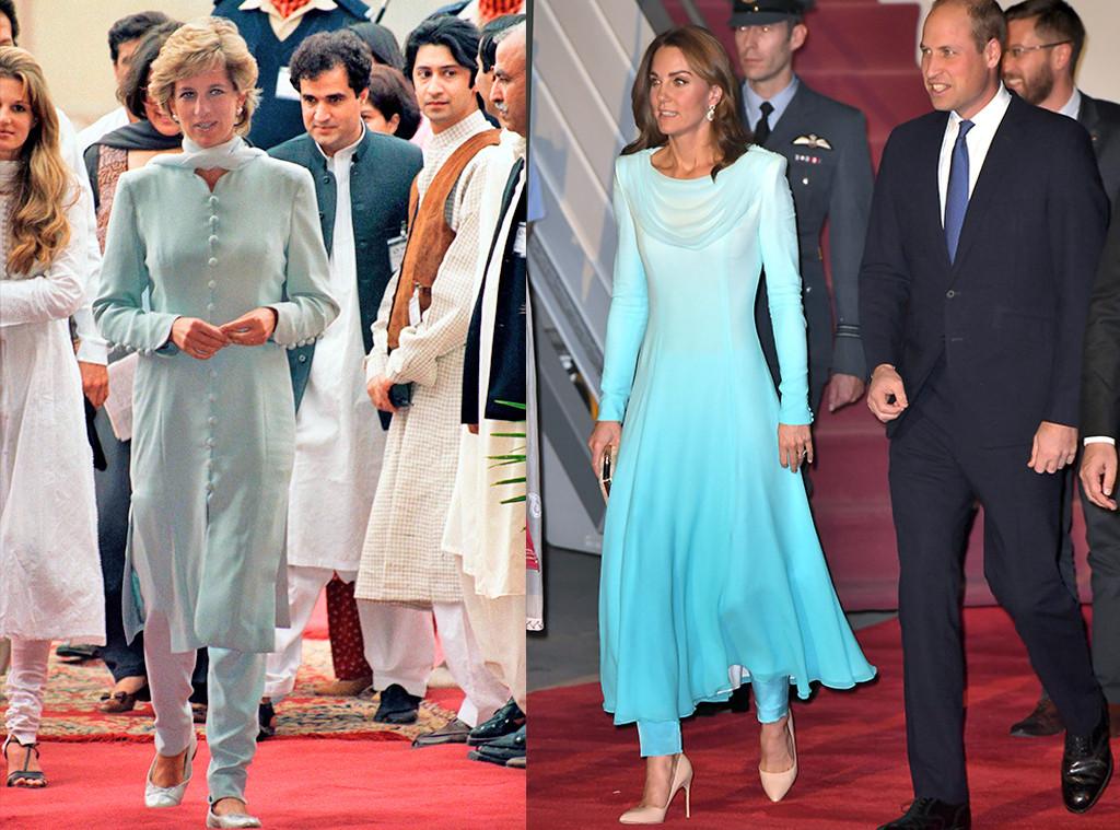 Princess Diana, Kate Middleton, Prince William, Pakistan