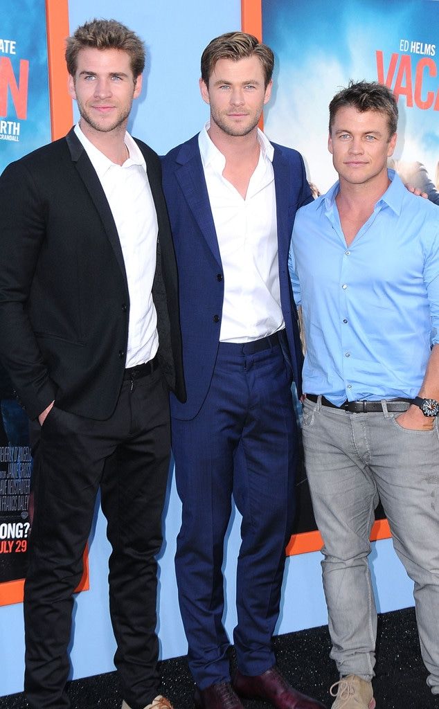 Liam Hemsworth, Chris Hemsworth and Luke Hemsworth