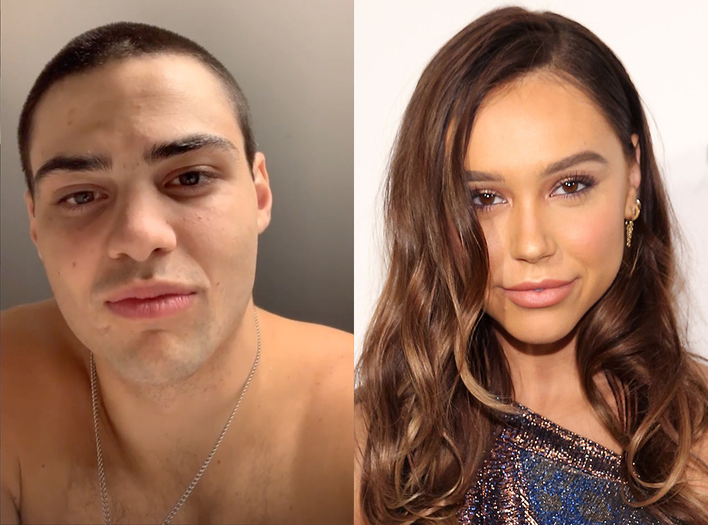 Noah Centineo, Alexis Ren, shaved head