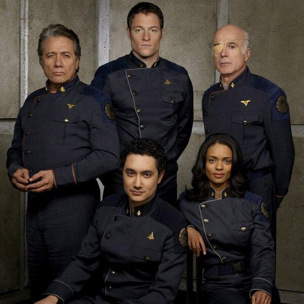 Battlestar Galactica - Edward James Olmos, Alessandro Juliani, Tahmoh Pinekett, Kandyse McClure, Michael Hogan
