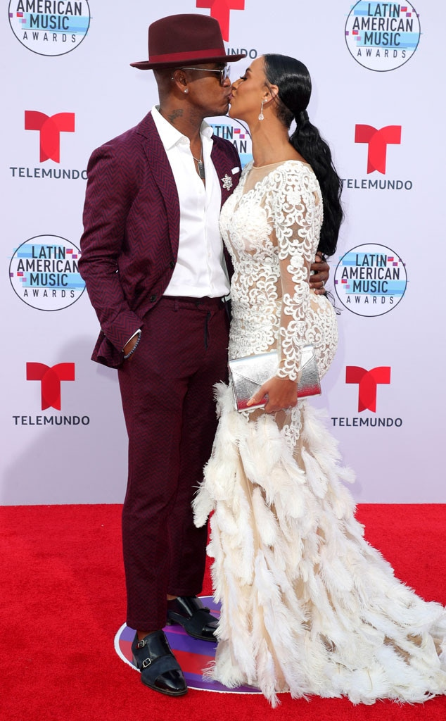 Ne-Yo, Crystal Renay, Latin American Music Awards 2019, Arrivals