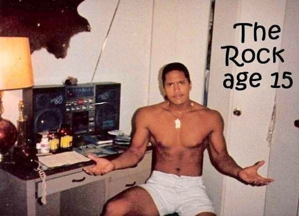 Dwayne Johnson, Throwback, Instagram
