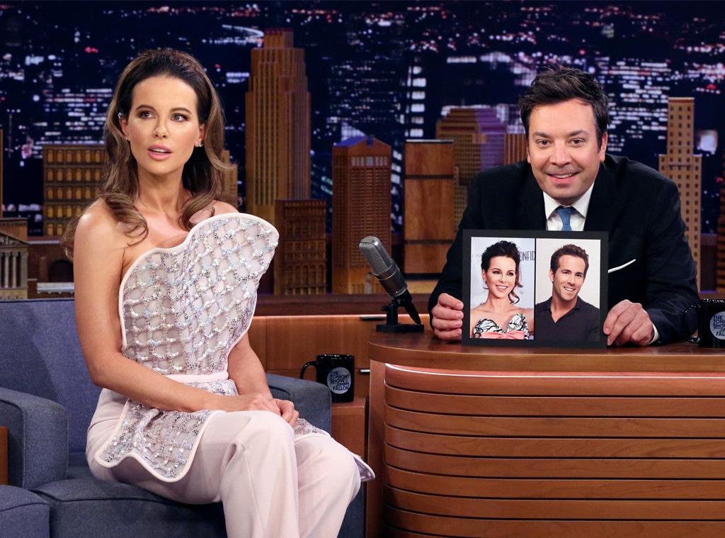 Kate Beckinsale, The Tonight Show starring Jimmy Fallon, Ryan Renyolds