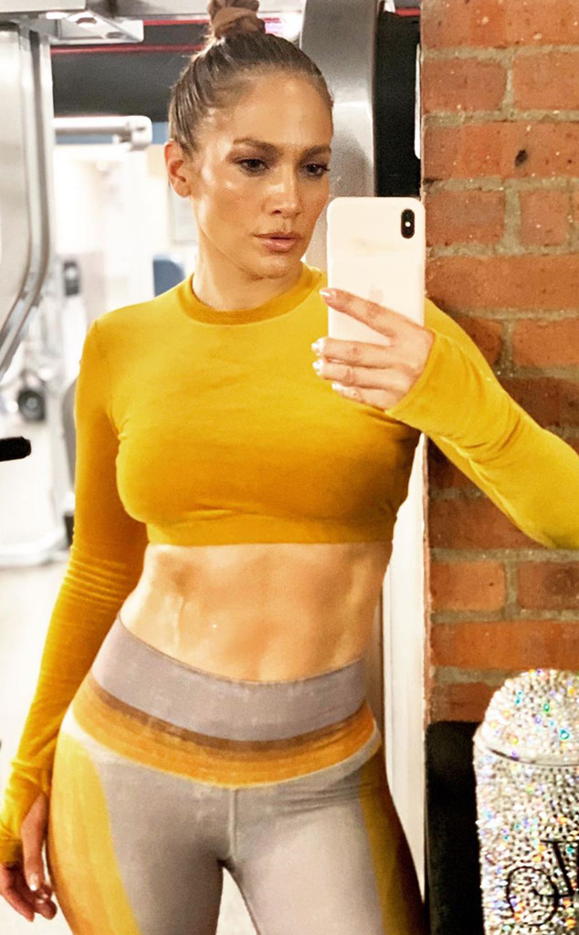 Jennifer Lopez, Gym Instagram 2019