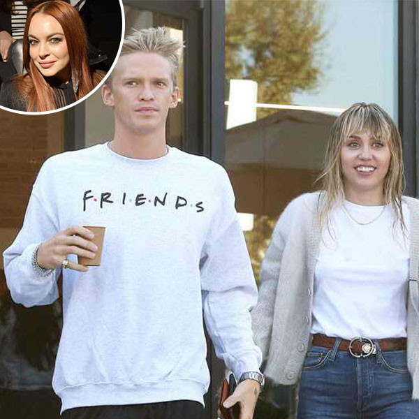 """Lindsay Lohan Shades Cody Simpson for """"Settling"""" With Miley Cyrus"""