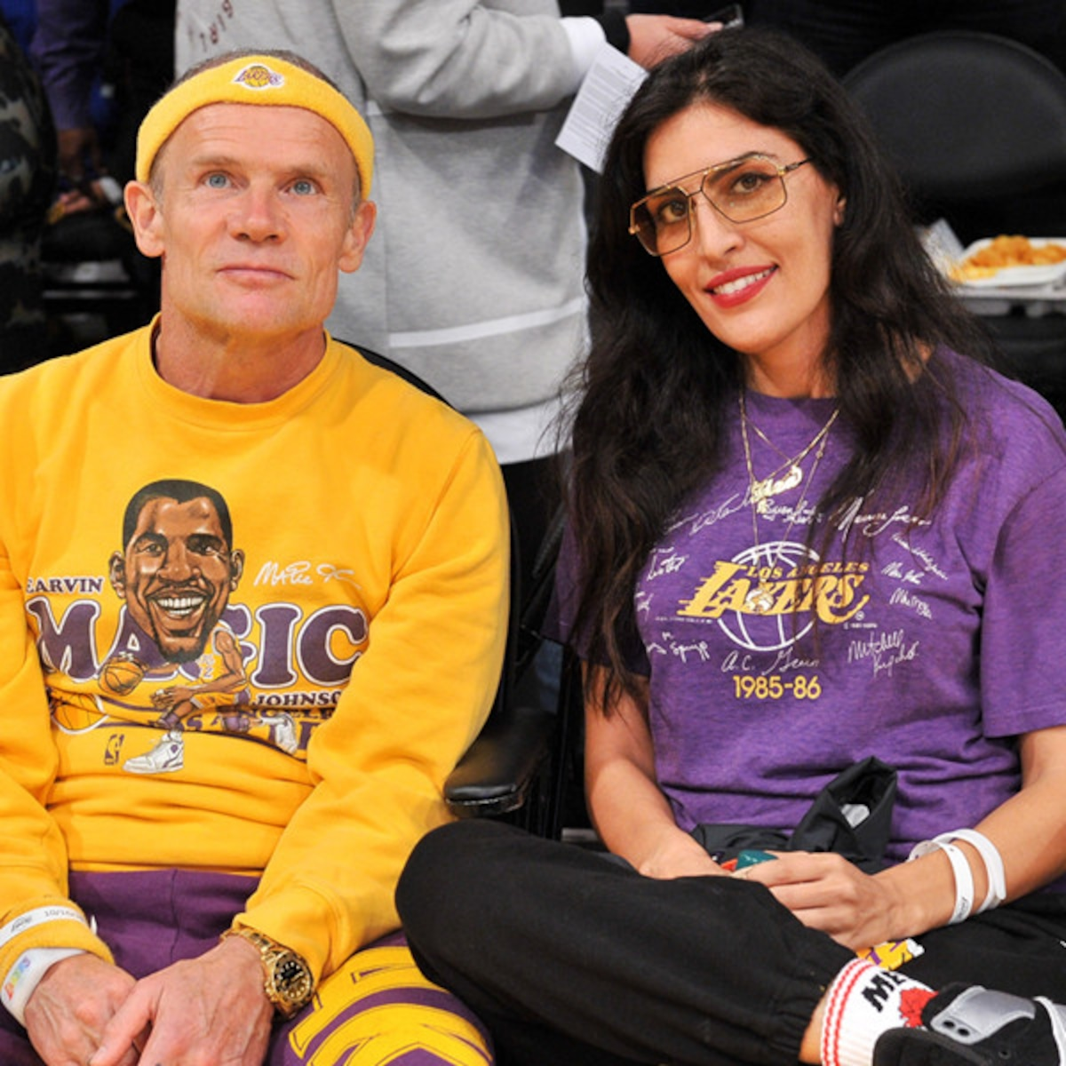 Alyssa Diaz Hot red hot chili peppers' flea marries designer melody ehsani