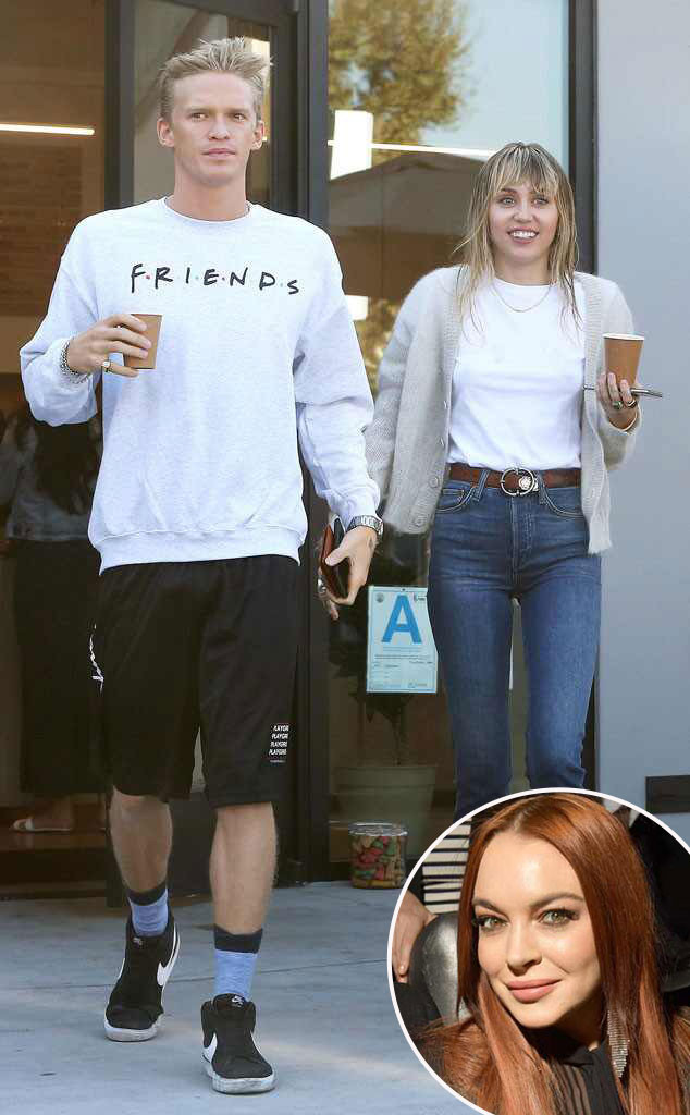 Miley Cyrus, Cody Simpson, Lindsay Lohan