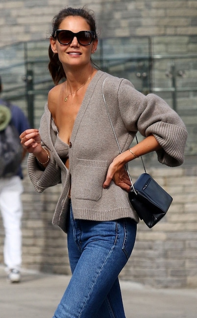 Katie Holmes fall style