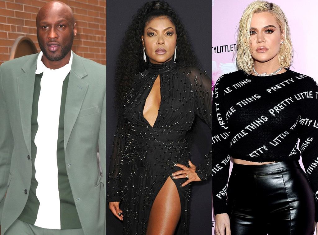 Lamar Odom, Taraji P. Henson, Khloe Kardashian
