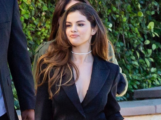 Selena Gomez Is Dressed to Kill in a Plunging Givenchy Power Suit