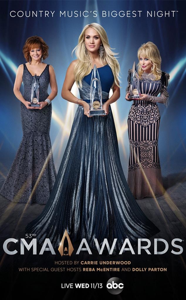 CMA 2019, Carrie Underwood, Reba McEntire, Dolly Parton