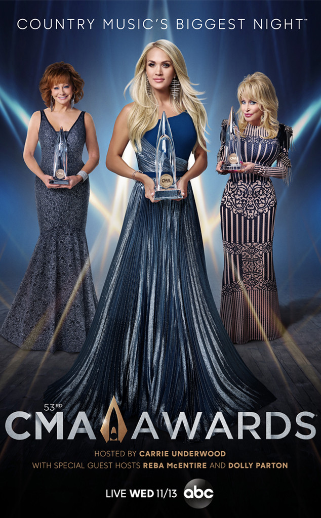 CMA 2019, Carrie Underwood, Reba McEntire, Dolly Parton