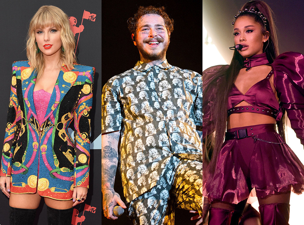 Taylor Swift, Post Malone, Ariana Grande