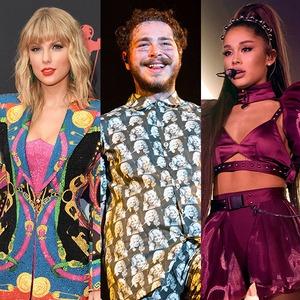 Taylor Swift, Post Malone, Ariana Grande