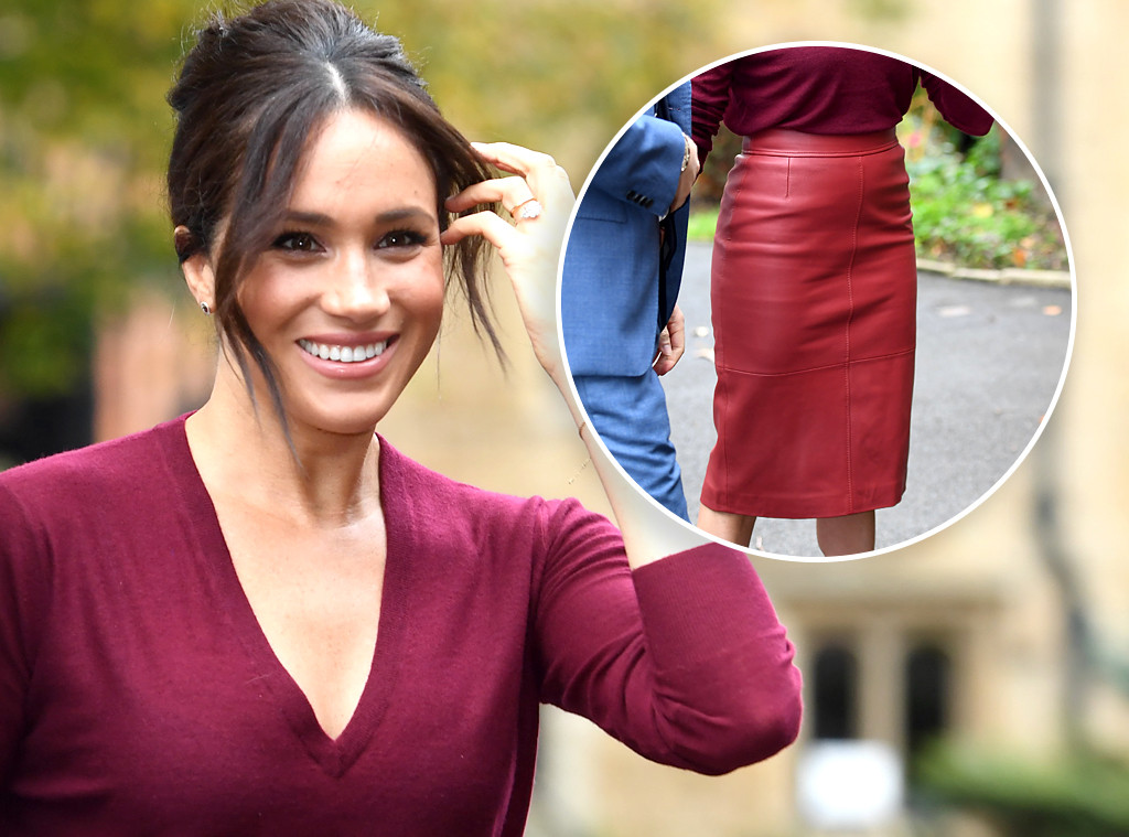 Ecomm: Meghan Markle Red Pencil Skirt