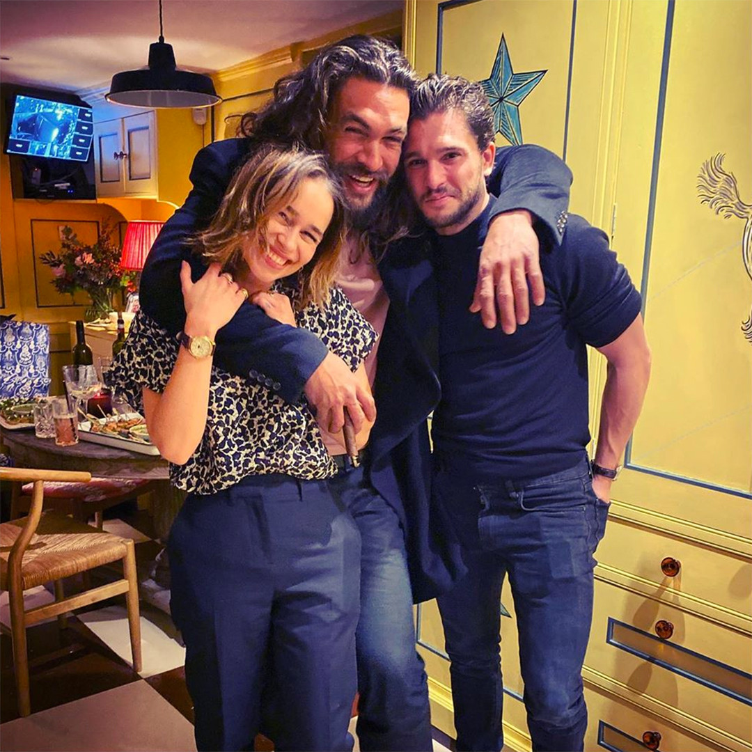 Emilia Clarke, Jason Momoa, Kit Harington, Game of Thrones, Reunion, Instagram