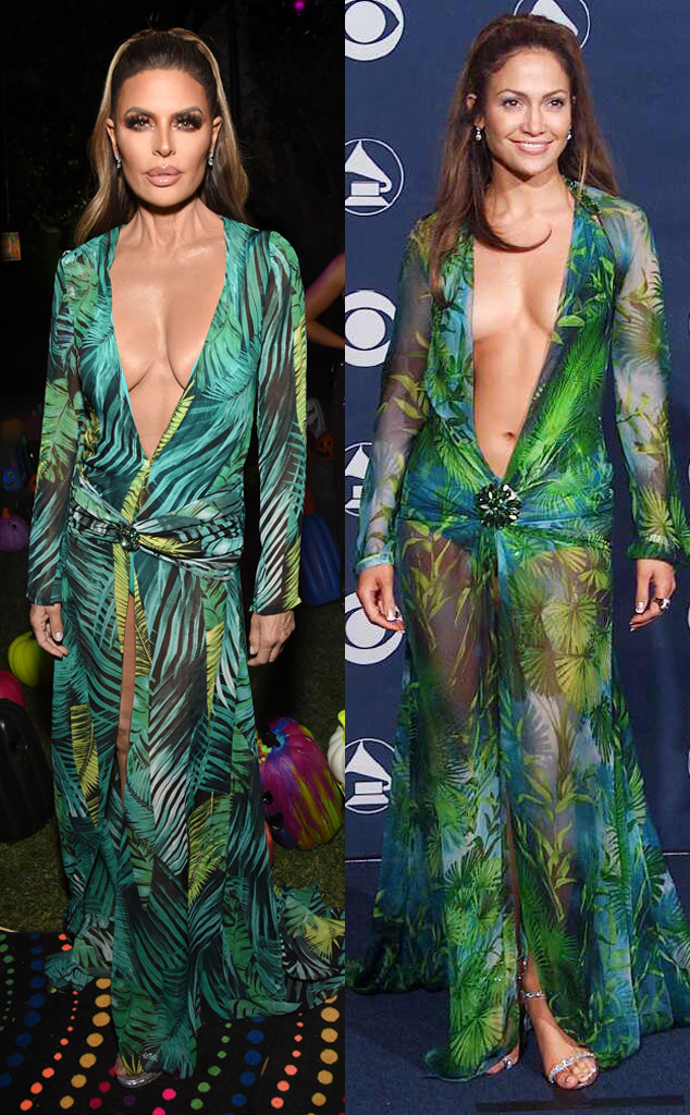 2019 Casamigos Halloween Party, Lisa Rinna, Versace, Jennifer Lopez, 2000 Grammys