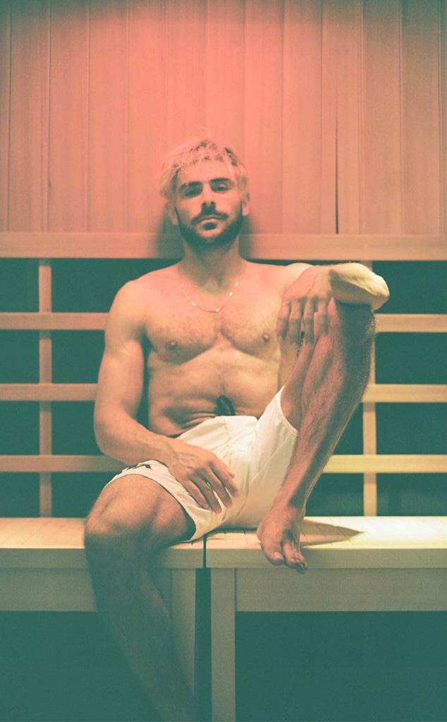 Zac Efron, Sauna Instagram