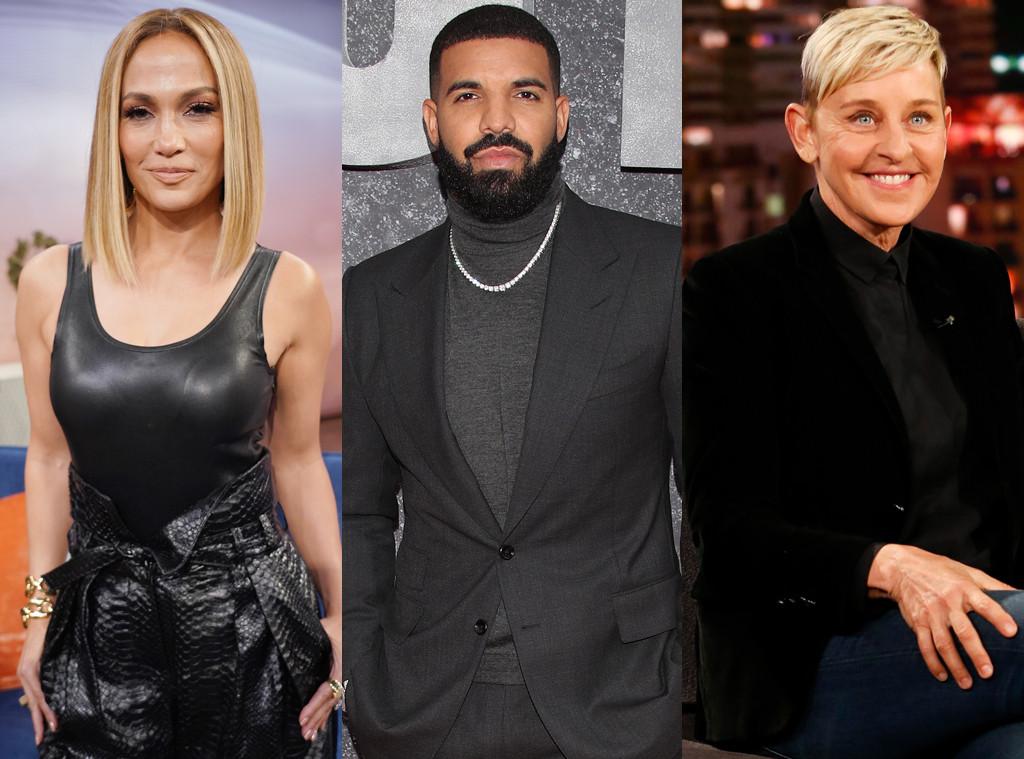 Jennifer Lopez, Drake, Ellen DeGeneres