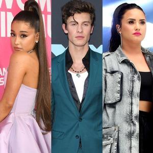 Ariana Grande, Shawn Mendes, Demi Lovato