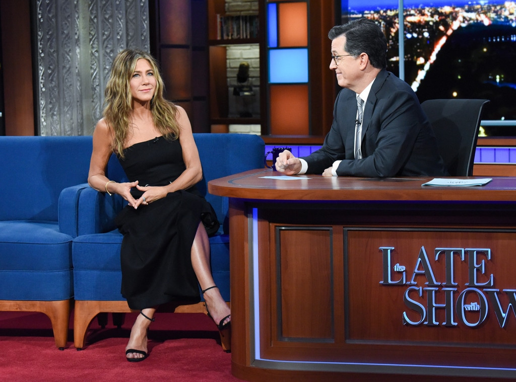 Jennifer Aniston, Stephen Colbert, The Late Show with Stephen Colbert