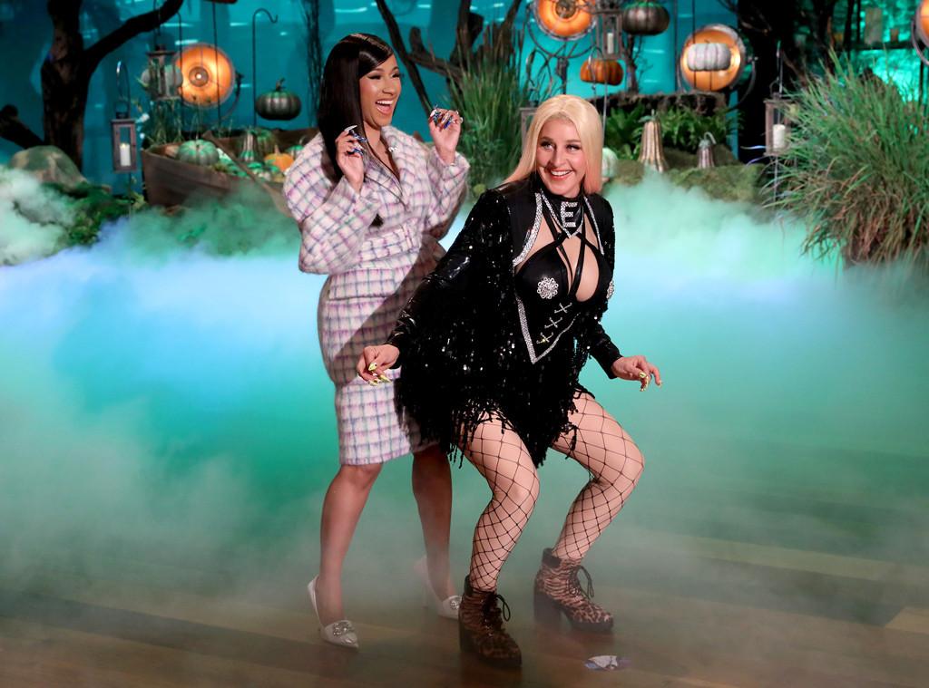 Dressed Up Like Ellen For Halloween 2020 Cardi B Teams Up With Ellen DeGeneres for a Halloween Twerk