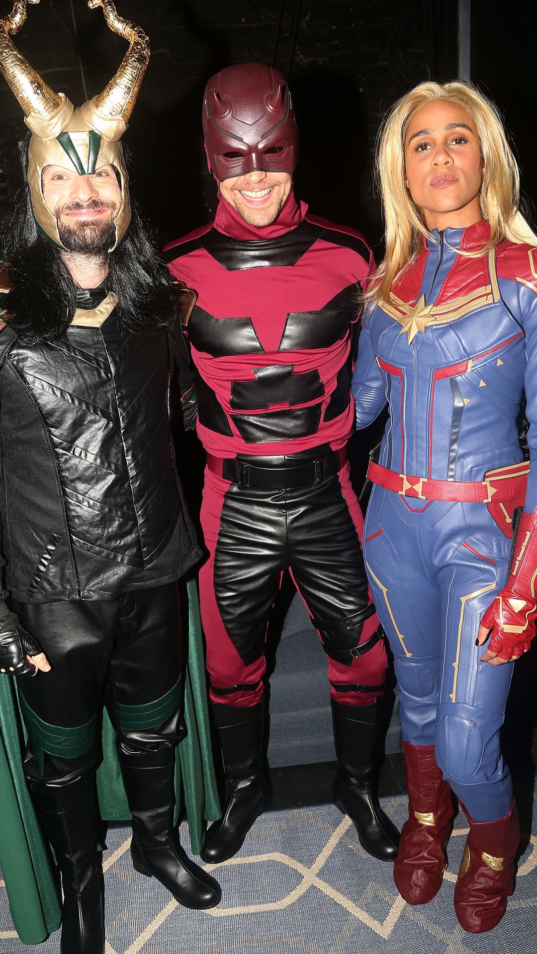 Charlie Cox, Tom Hiddleston, Zawe Ashton, Halloween