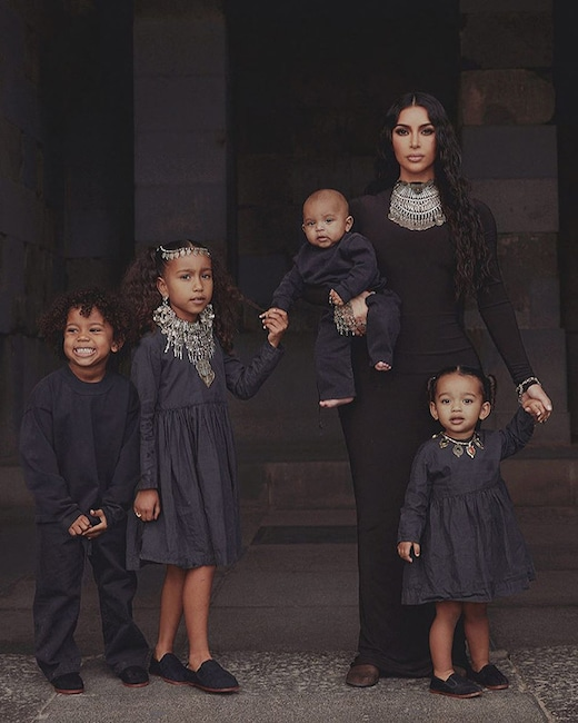 Kim Kardashian, North West, Saint West, Chicago West, Psalm West, Instagram, Armenia