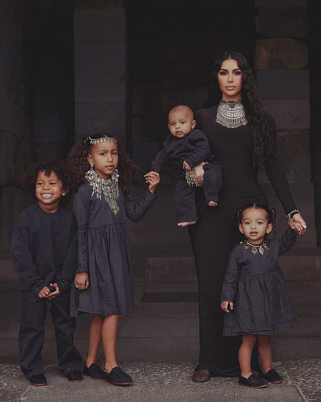 Kim Kardashian, North West, Saint West, Chicago West, Psalm West, Instagram, Armenia
