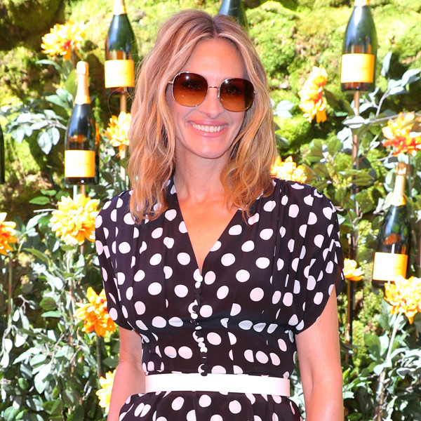 Julia Roberts Serves Pretty Woman Vibes in Playful Polka Dot Outfit