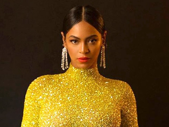 Beyoncé Steals the Show in A Glittering Gold Dress Ahead of Jay-Z's Charity Gala